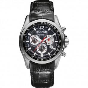 Roamer Uhrenarmband 220837-49-25-02 Leder Schwarz 22mm + standardnähte