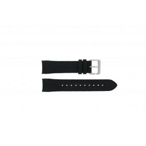 Hugo Boss Uhrenarmband HB-232-1-27-2731 / HB1513087 Leder Schwarz 22mm + schwarzen nähte