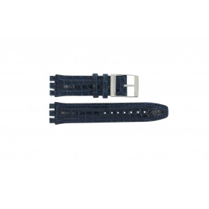 Uhrenarmband Swatch 247.11M Leder Blau 20mm