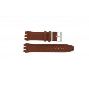 Uhrenarmband Swatch 247.02PL Leder Braun 20mm