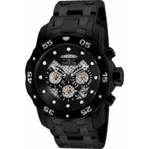 Uhrenarmband Invicta 25334.01 Stahl Schwarz 26mm