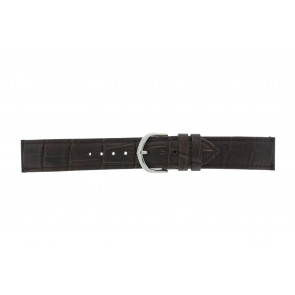 Olympic Uhrenarmband 26HSL057 Leder Dunkelbraun 20mm + standardnähte