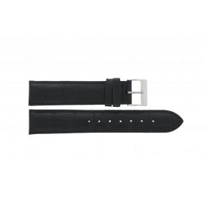 Uhrenarmband Edox 27028-2 Leder Schwarz 19mm