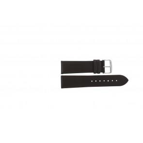 Echtes Leder Uhrenarmband dunkelbraun 20mm PVK-283