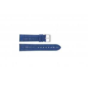 Echt Leder Uhrenarmband kroko blau 22mm PVK-285