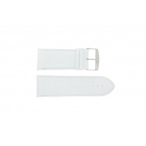 Uhrenarmband Universal 305R.09 Leder Weiss 32mm