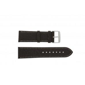 Uhrenarmband 307.02 Leder Braun 18mm + weiße nähte