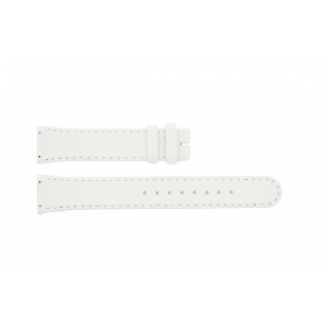 Boccia Uhrenarmband BO3186-01-40W Leder Weiss 19mm + standardnähte