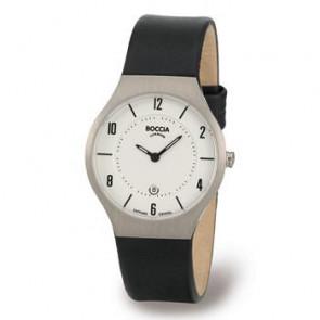 Uhrenarmband Boccia 3193-01 (BO811 X367S16) Leder Schwarz 15mm