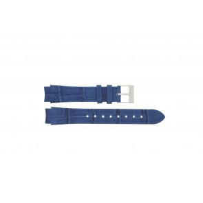 Prisma Uhrenarmband 33 832 117 Leder Blau 14mm + blauen nähte