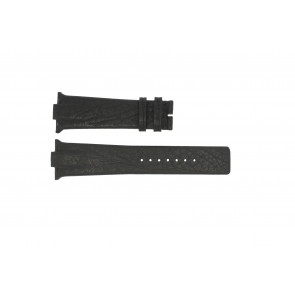 Uhrenarmband Boccia 3519-02 / 3519-03 Leder Schwarz 28mm