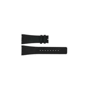 Boccia Uhrenarmband 3541-02 Leder Schwarz 20mm