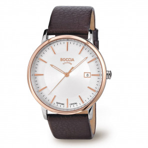 Uhrenarmband Boccia 3557-04 Leder Braun 21mm