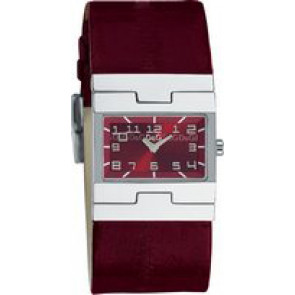 Uhrenarmband Dolce & Gabbana 3719251493 Leder Bordeaux 25mm