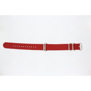 Uhrenarmband 409.06.20 Textil Rot 20mm