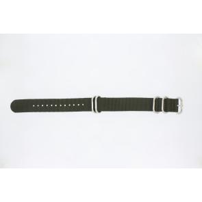 Uhrenarmband 409.27.22 Textil Grün 22mm