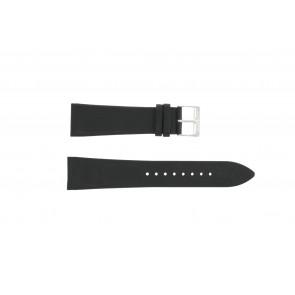 Uhrenarmband Junghans 42050-4963 / 030/4942.00/222987 Leder Schwarz 22mm