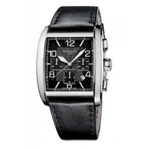 Raymond Weil Uhrenarmband SI2801-4876-1 Leder Schwarz 28mm + schwarzen nähte