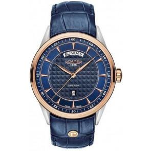 Uhrenarmband Roamer 508293.49.45.05 Leder Blau