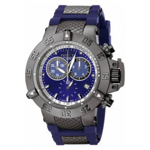 Uhrenarmband Invicta 5509.01 Stahl/Silikon Blau