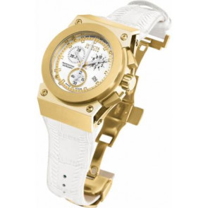 Uhrenarmband Invicta 5574.01 Leder Weiss