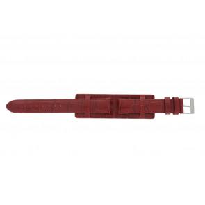 Uhrenarmband 61325.45.16 Leder Rot 16mm + roten nähte