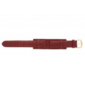Uhrenarmband 61325.45.20 Leder Rot 20mm + roten nähte