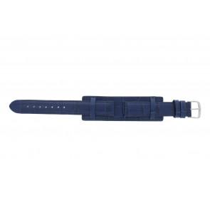 Uhrenarmband Universal 61325.55.16 Leder Blau 16mm