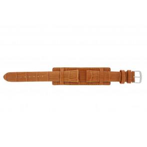 Uhrenarmband 61325.75.18 Leder Orange 18mm + orange nähte
