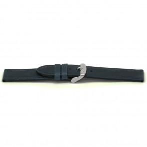 Uhrenarmband Leder blau 16mm EX-E629