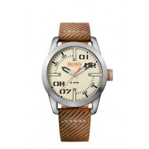 Uhrenarmband Hugo Boss HB-291-1-14-2938 / 659302741 Leder Braun 22mm