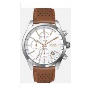 Uhrenarmband Hugo Boss HB-297-1-14-2955 / 659302763 / HB1513475 Leder Cognac 22mm