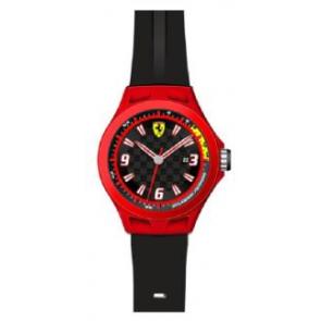 Uhrenarmband Ferrari SF-01-1-47-0005 / 689300004 Silikon Schwarz