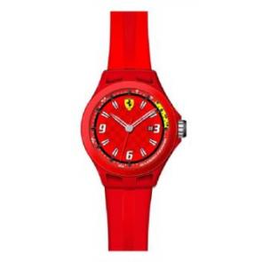 Uhrenarmband Ferrari SF-01-1-47-0005 / 689300005 Silikon Rot