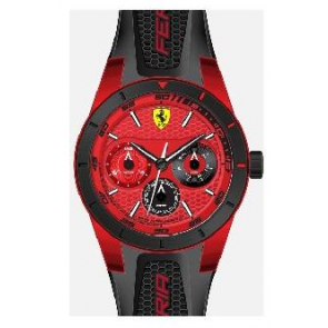 Uhrenarmband Ferrari SF-28-1-44-0189 / 689300186 Silikon Schwarz