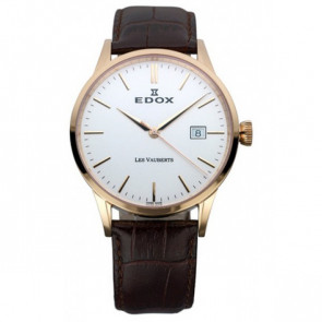 Uhrenarmband Edox 70162 / 493467 Leder Dunkelbraun 20mm