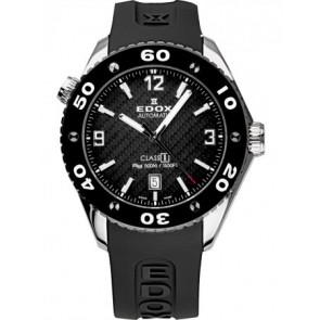 Uhrenarmband Edox 80061 Silikon Schwarz 20mm