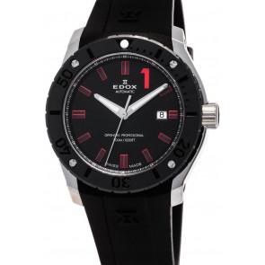 Uhrenarmband Edox 80088 Kautschuk Schwarz