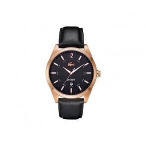 Uhrenarmband Lacoste 2010582 / LC-52-1-34-2266 Leder Schwarz 22mm