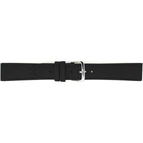 Uhrenarmband 823.01.10 Leder Schwarz 10mm + schwarzen nähte