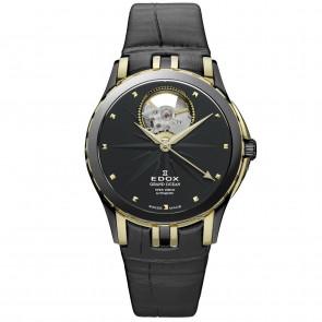 Uhrenarmband Edox 85012 Leder Schwarz