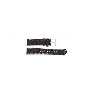 Olympic Uhrenarmband 89JAL004 Leder Braun 18mm + weiße nähte
