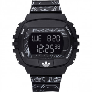 Uhrenarmband Adidas ADH6096 Kunststoff Schwarz 15mm