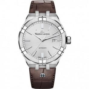 Uhrenarmband Maurice Lacroix Aikon AI6008-SS001-130-1 Leder Braun 25mm