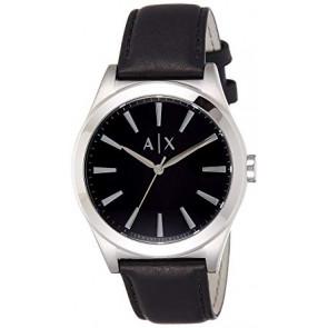 Uhrenarmband Armani Exchange AX2323 Leder Schwarz 22mm