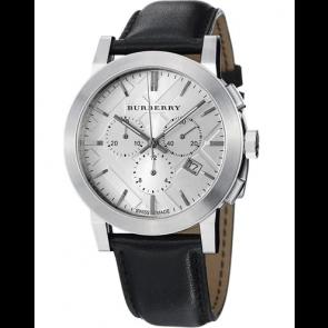 Uhrenarmband Burberry BU9358 / 7177850 Leder Schwarz