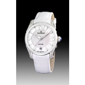 Uhrenarmband Candino C4419-1 Leder Weiss