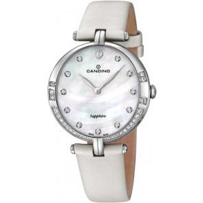 Uhrenarmband Candino C4601 Leder Weiss