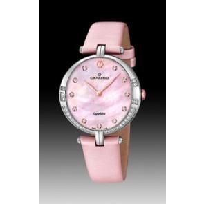 Uhrenarmband Candino C4601-3 Leder Rosa