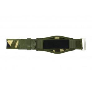 Uhrenarmband Camel Active Klettband Grün 26mm